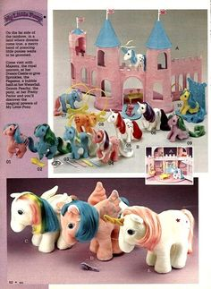 My Little Pony toys from a 1984 catalog. #1980s #toys | http://amazingelectronictoysmargarette.blogspot.com