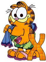 Garfield 5 alphabets