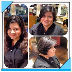 My guest @caruhsalonspa that wanted a completely new style. #aveda #shorthair #haircut