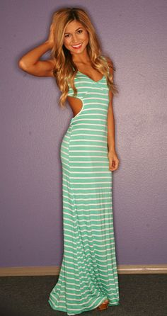 "I don't really do dresses or stripes, but I like the ""design"" of this dress. =)"