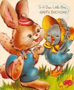 bunny and chick for birthday