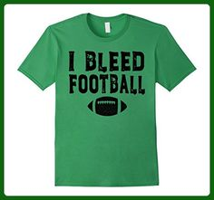 Mens I Bleed Football T-shirt for the True Football Fan Medium Grass - Sports shirts (*Amazon Partner-Link)