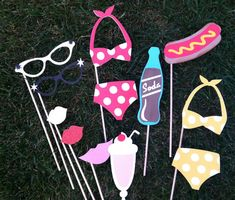 PHOTO BOOTH PROPS pin up party by flutterbugfrenzy on Etsy, $23.00