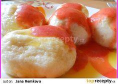 Kynuté ovocné knedlíky, zatím nejlepší recept - TopRecepty.cz Donuts, Czech Recipes, Fruit Salad, Dairy, Cheese, Czech Food, Asian Desserts, Sweets, Sweet Pastries