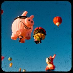 I would so love to have a hot air balloon shaped like a flying pig.  Fantastic idea!! :)  You could drop balloons filled with chocolate pudding...on people's cars!