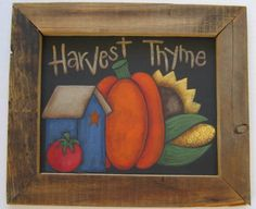 Tole Painting Pattern Harvest ThymeFall DIY by barbsheartstrokes,