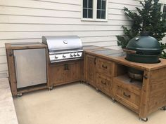 Outdoor Grill Kitchen, Grill Cabinet, Grill Table and other Outdoor Patio Furniture - Bertha Moreno - Kitchen Bars Outdoor Kitchen Bars, Outdoor Kitchen Design, Outdoor Kitchens, Outdoor Kitchen Cabinets, Simple Outdoor Kitchen, Outdoor Spaces, Used Outdoor Furniture, Outdoor Decor, Rustic Furniture