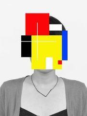 Douglas Coupland Deep Face (2015) Acrylic on B&W photograph, mounted on diabond
