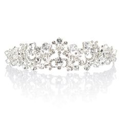 Remedios Dazzling Crystal Rhinestone Wedding Tiara Crown Bridal Headpiece Veil Headband *** Click image for more details.(This is an Amazon affiliate link)