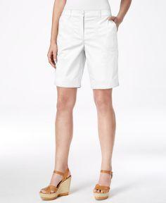 Karen Scott Relaxed-Fit Bermuda Shorts, Only at Macy's