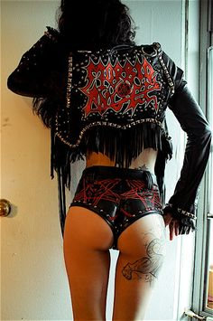 TOXIC VISION Morbid Angel studded warrior jacket by toxicvision, $666.00, this is what you call a bad ass jacket!