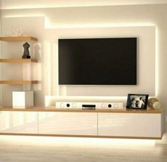 The Perfect TV Wall Ideas That Will Not Sacrifice Your Look – 05 – InteriorDUB unit design modern mounted tv Modern Tv Cabinet, Modern Tv Wall Units, Tv Cabinet Design, Tv Wall Design, Built In Tv Wall Unit, Living Room Wall Units, Living Room Tv Unit Designs, Living Rooms, Tv Unit Decor