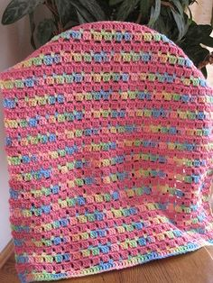 Block-stitch Blanket pattern: