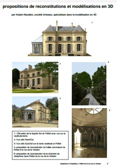 Fantastic 3D simulations of Napoleon and Josephine's house on the rue de la Victoire.