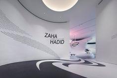 Zaha Hadid: Form in Motion - Architecture Exhibition. Philadelphia Museum of Art, USA. Landscape Architecture Drawing, Futuristic Architecture, Architecture Office, Architecture Quotes, Office Buildings, Chinese Architecture, Futuristic Design, Architectes Zaha Hadid, Zaha Hadid Architektur