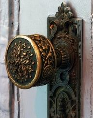 Love old door knobs. Different one for each interior door. Gives you a little something special