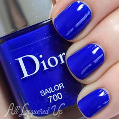 Dior Sailor Nail Polish from Summer 2014 Transatlantique Collection / Love this shade of blue it is simple but stunning. Love Nails, How To Do Nails, Pretty Nails, Garra, Sailor Nails, Nails After Acrylics, Dior, Plain Nails, Finger