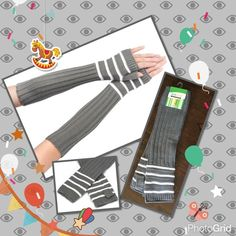 "Gray warm knitting long fingerless gloves Graycolor half arm knitting fingerless gloves very soft warm and fashionable Material acrylic fibers Length (approx) 14"" 💥 price is firm unless you bundle 2 pairs available Accessories Gloves & Mittens"
