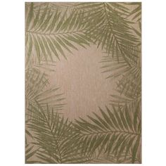 Palm Border 7 ft. 10 in. x 10 ft. Indoor/Outdoor Area Rug-303484552403051 - The Home Depot