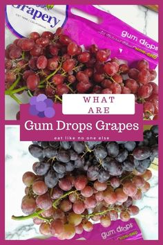What are Gum Drop Grapes? Learn all about these grapes that have fruity flavor similar to those sugar encrusted gum drop candies, only these won't send you to the dentist. Cotton Candy Grapes, Gum Drops, Anything Is Possible, Candies, Natural, Sugar, Fruit, Eat, Nature
