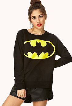 Classic Batman Sweatshirt | FOREVER21 - 2000073160 I'd go anywhere wearing this <3 #ForeverHoliday #BATWOMAN