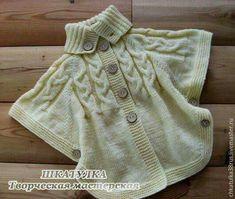 Knitting For Kids, Baby Knitting Patterns, Knitting Stitches, Free Knitting, Poncho Lana, Crochet Shawl, Knit Crochet, Baby Overalls, Knitted Slippers