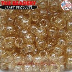 The Beadery Haarkralen 9x6mm Glitter Goud
