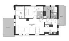 Ainoa Tempo 94 | Ainoakoti My Dream Home, Floor Plans, My Dream House, Floor Plan Drawing, House Floor Plans
