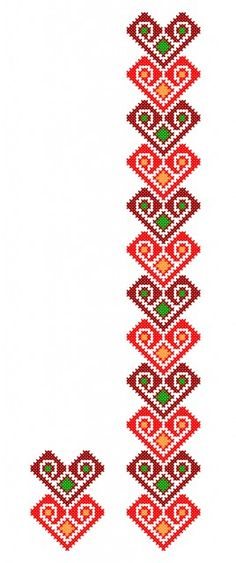MP506 Embroidery Patterns Free, Beading Patterns, Cross Stitch Embroidery, Hand Embroidery, Embroidery Designs, Cross Stitch Borders, Cross Stitch Patterns, Fabric Paint Designs, Motifs Perler
