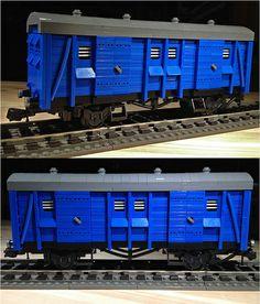 Very nice Lego wagon Lego City Train, Lego Trains, Cool Lego, Awesome Lego, Lego Boards, Lego Ship, Lego Room, Lego Models, Custom Lego