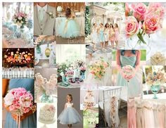 blue and pink, like the blue and grey suite, bridesmaid dresses in lower right