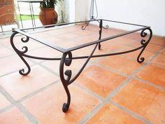 mesas living de hierro forjado