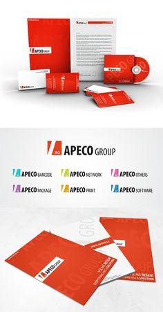 Nerealizovaná firemní identita pro společnost APECO group.