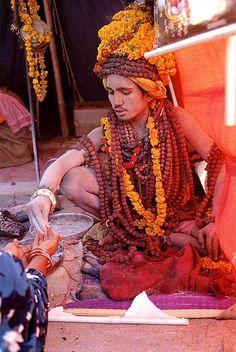 INDIA- Sadhu in the  Maha Kumbha Mela by BoazImages, via Flickr