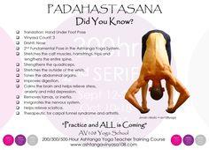 AV108 Yoga School QUICK FACTS #3 Ashtanga Yoga - PADAHASTASANA Enjoy your Practice Keep Breathing, Keep Moving & Keep Smiling! #av108yogaschool #yogaquickfacts #padahastasana #ashtangayoga #yogateachertrainingcourse #jovannikolic