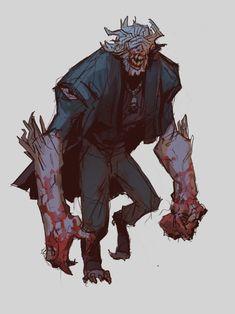 Bloodborne Monster 1 by Edward Delandre Character Designer, Fantasy Character Design, Character Design Inspiration, Character Concept, Character Art, Monster Concept Art, Fantasy Monster, Monster Art, Bloodborne Concept Art