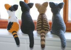 Amigurumi #crochet cat patterns for sale from @planetjune