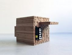 Clever Bamboo Table is Also a Cupboard