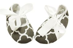 Gray Waverly Print Crib Shoes