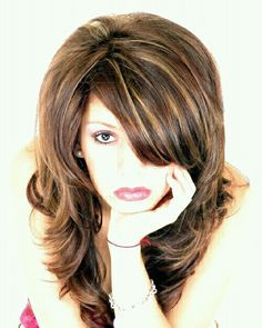 Brown hair, love this dark brown hair color with highlights.