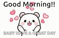 Good Morning Sister Quotes, Cute Good Morning Gif, Funny Cartoon Gifs, Cute Cartoon Images, Cute Bunny Cartoon, Cute Love Cartoons, Gif Lindos, Dancing Animated Gif, Bear Gif