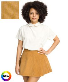 rigid corduroy circle skirt
