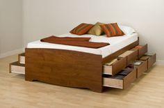 Storage Bed - http://everymomneeds.com/storage-bed/