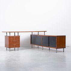 Cees Braakman L-shaped desk Pastoe, 1950s, Netherlands
