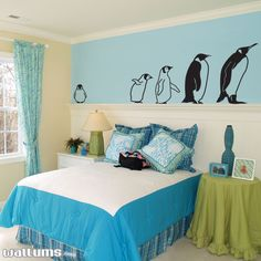 March of the penguins wall decal-- How fun this would be in a kids room?!