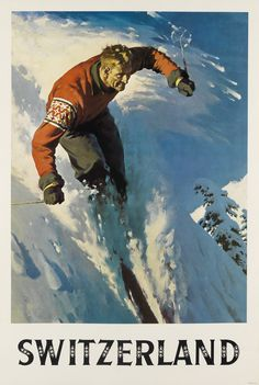 vintagetravel//ski affiche un 1 un 2 un 3 un 4 tailles Jungfrau ferroviaire suisse
