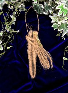 Pagan Handfasting Gift . Natural Jute God and Goddess love amulet.Hadmade by Rowan Duxbury positivelypagan.com