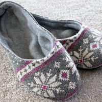 When it's cold outside, it's nice to slip into a comfy pair of slippers. Create your own pair from an old sweater for added coziness. Designed for indoor use, these are sure to keep your feet toasty warm.