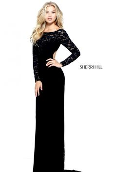 Comanda online, Rochie Sherri Hill 51128 Black. Articole masurate, calitate garantata!