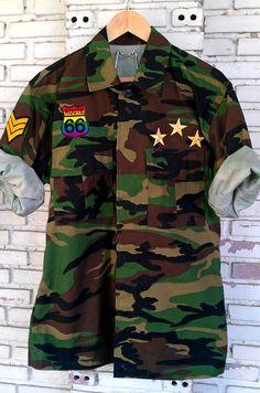 Patch Vintage Camouflage Army Jacket Size L by KodChaPhorn on Etsy